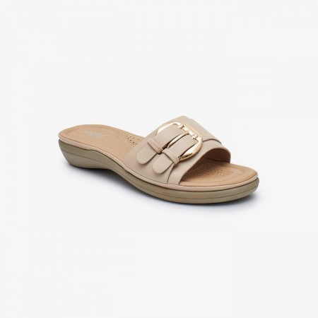 NDURE Memory Foam Ladies Chappal ND-CF-0014-BEIGE