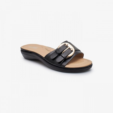 NDURE Memory Foam Ladies Chappal ND-CF-0014-BLACK