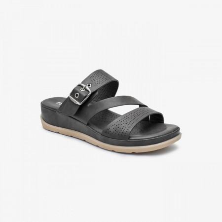 NDURE Memory Foam Strappy Chappal ND-CF-0008-BLACK