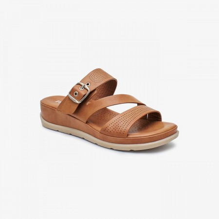 NDURE Memory Foam Strappy Chappal ND-CF-0008-TAN