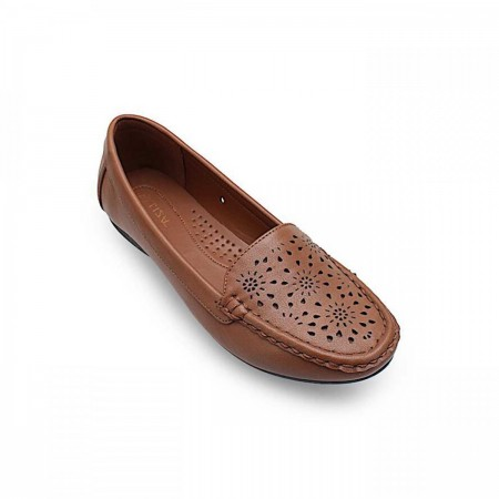 NDURE Perforated Casual Loafers ND-CF-0529-Brown