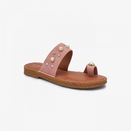 NDURE Toe Ring Ladies Chappal ND-FH-0004-Pink