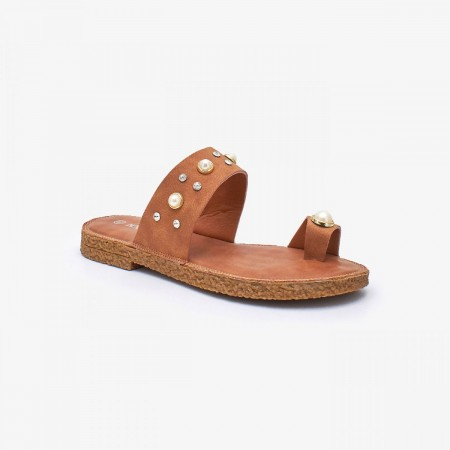 NDURE Toe Ring Ladies Chappal ND-FH-0004-Tan