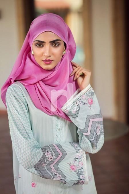 Nishat Linen DS19-53 Aqua Digital Printed Stitched Cambric Jalabiya 1PC
