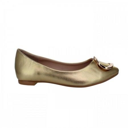 Reeva Buckled Ballerina Flats RV-SM-0336-Gold