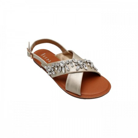 Reeva Cross Strap Ladies Sandal RV-SD-0420-Gold