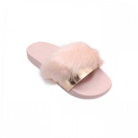 Reeva Fur Chappal RV-CH-0266-Pink