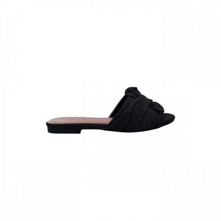 Reeva Ladies Denim Slide Chappal RV-CH-0248-Black