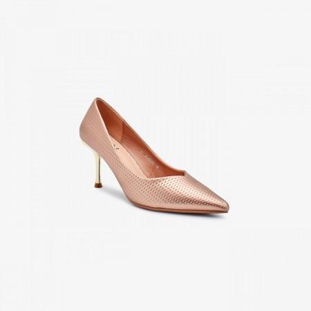 Reeva Pointed Toe Kitten Heels RV-SM-0444-Rose Gold