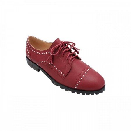 Reeva Studded Oxford Shoes RV-SM-0405-Maroon