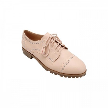 Reeva Studded Oxford Shoes RV-SM-0405-Nude