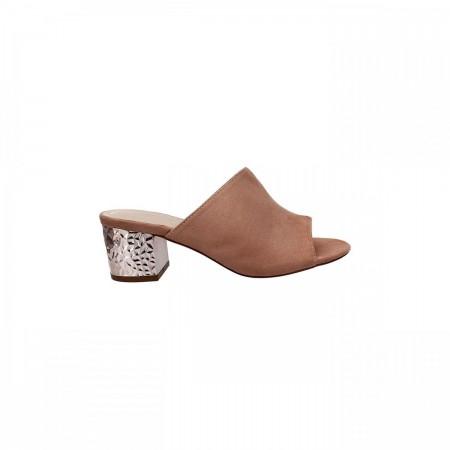Reeva Suede Leather Block Heels RV-CH-0237-Khaki
