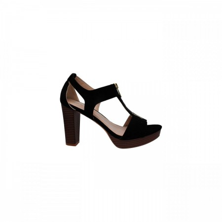 Reeva T-Strap Block Heel Ladies Sandal RV-SM-0378-Black