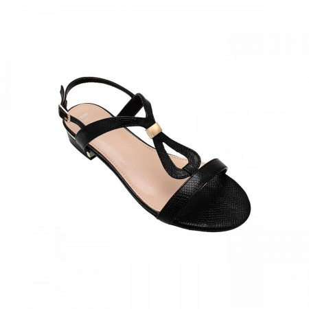 Reeva T-Strap Ladies Sandal RV-SD-0411-Black