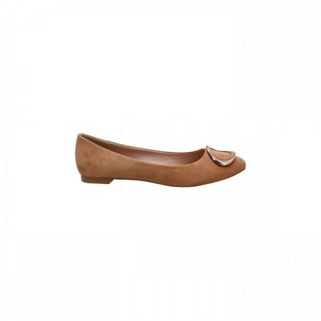 Reeva Textured Ballerina Flats RV-SM-0364-Beige