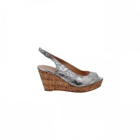 Reeva Textured Wedge Heels RV-SD-0395-Silver