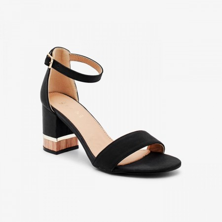 Reeva Women Block Heels RV-SD-0463-BLACK