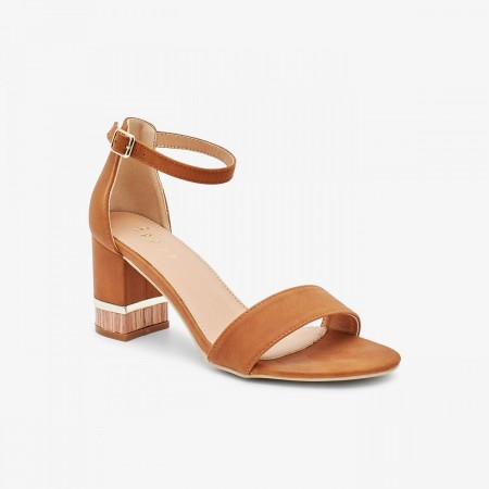 Reeva Women Block Heels RV-SD-0463-BROWN