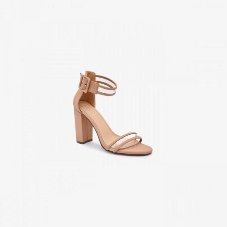Reeva Women Block Heels RV-SD-0465-NUDE