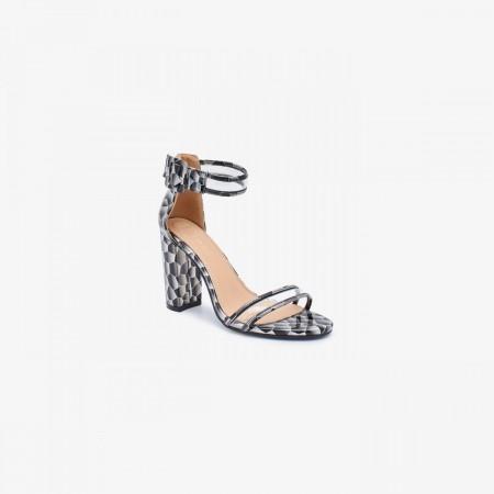 Reeva Women Block Heels RV-SD-0465-SILVER