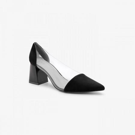 Reeva Women Block Heels RV-SM-0436-BLACK