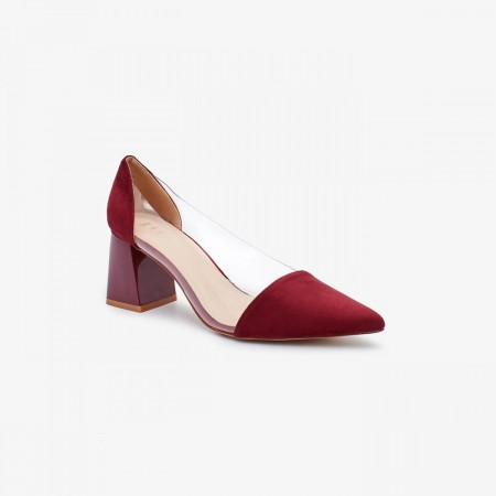 Reeva Women Block Heels RV-SM-0436-BURGUNDI