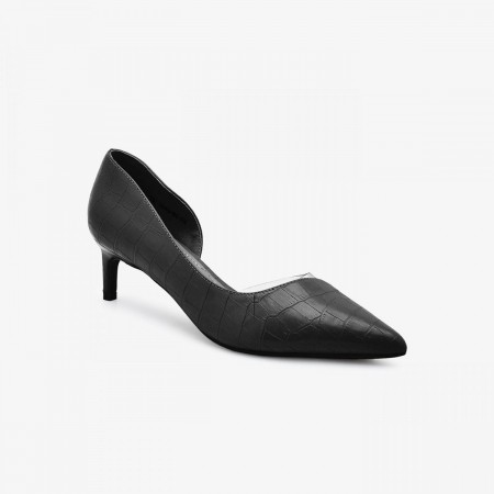 Reeva Women Kitten Heels RV-SM-0440-BLACK