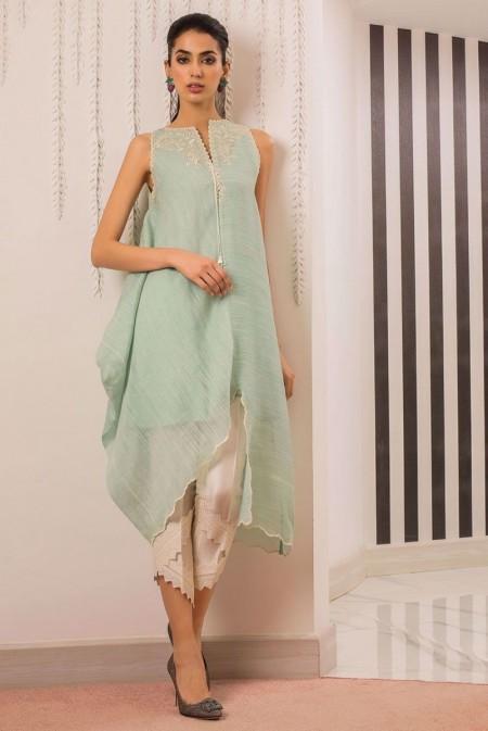 Sania Maskatiya Asymmetric woven shirt