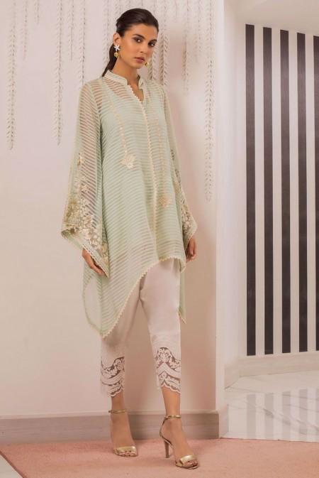 Sania Maskatiya Bell sleeves organza woven shirt