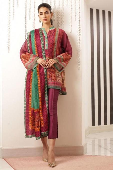 Sania Maskatiya Printed short cotton net kurta