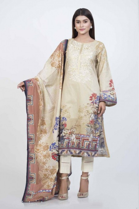 Bonanza Satrangi Beige-Cambric-Suit BSSK92P006-BEIGE