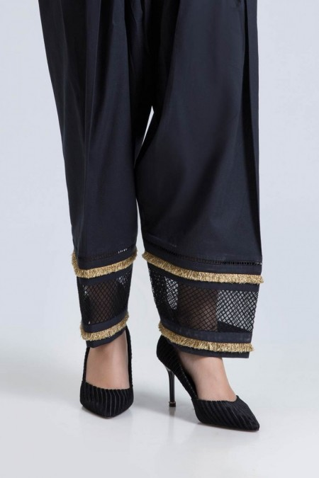 Bonanza Satrangi BLACK-UNSTITCHED TROUSER B2100003971906