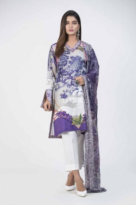 Bonanza Satrangi Purple-Cotton Satin-Suit BMSK92P007-PURPLE