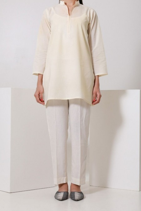 Chapter 2 Handwoven White Pants C2BS19301-Beige