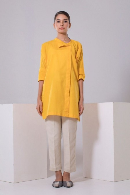 Chapter 2 Handwoven Yellow Top C2THF19205-Yellow