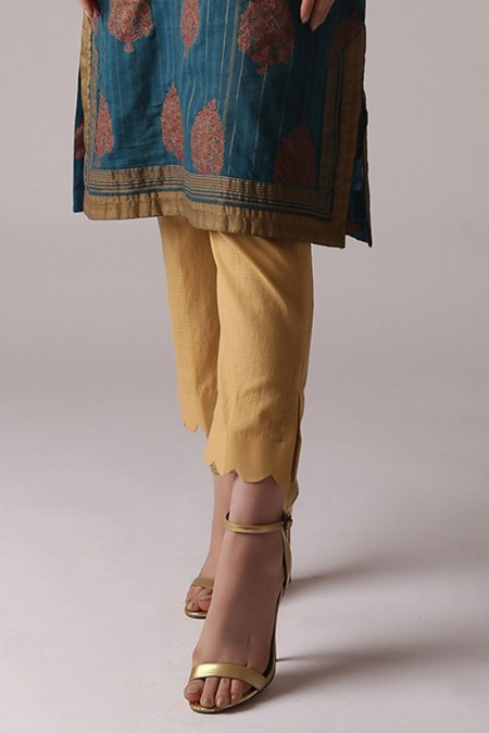 Alkaram Studio Dyed Ribbed Trouser (Sold by Per Meter)