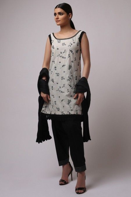 Alkaram Studio Embroidered Yarn Dyed Shirt (Sold by Per Meter)