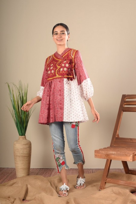 Ethnic by Outfitters Fusion Top WTC391009-10212563-AS-074