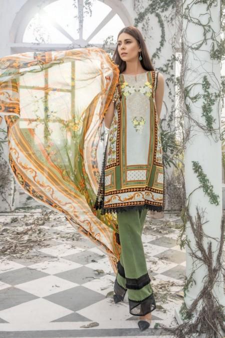 Firdous Clothing Lawn Karandi'19 19-LK-03A