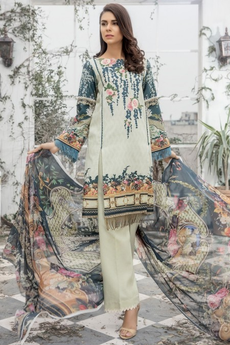 Firdous Clothing Lawn Karandi'19 19-LK-09B