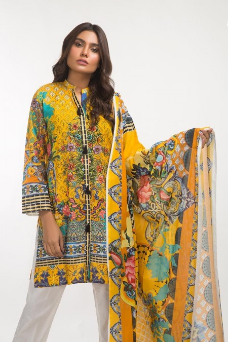 Gul Ahmed 3 PC Lawn Outfit IPS-19-103