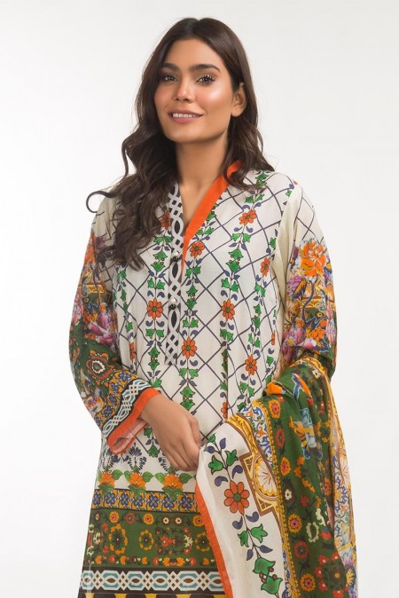 Gul Ahmed 3 PC Lawn Outfit IPS-19-107