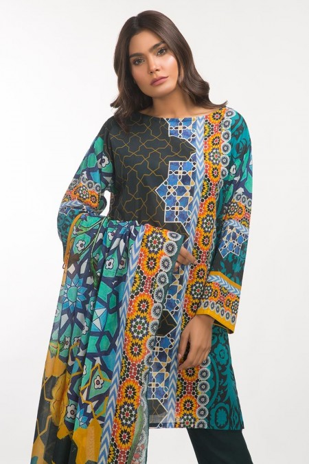 Gul Ahmed 3 PC Lawn Outfit IPS-19-109