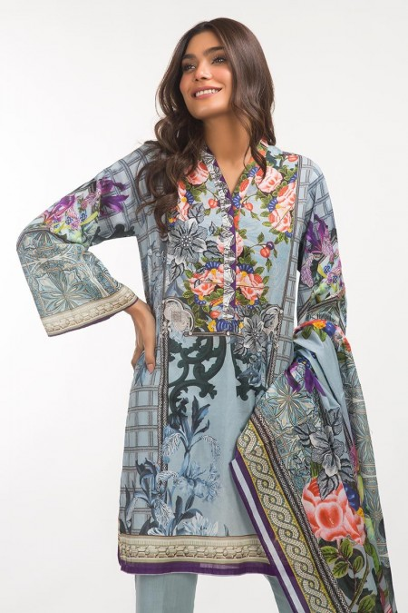 Gul Ahmed 3 PC Lawn Outfit IPS-19-110