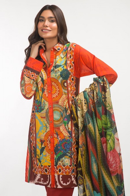 Gul Ahmed 3 PC Lawn Outfit IPS-19-111