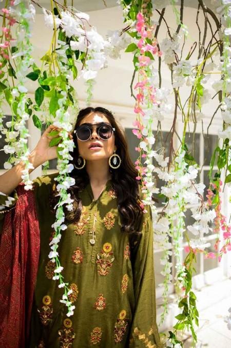 Gul Ahmed Khadi Net 3 PC Outfit GLAMOUR-19-48