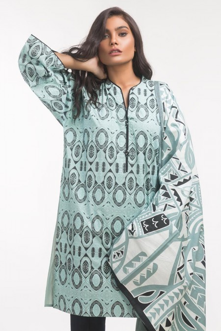 Gul Ahmed Monochrome Collection Lawn 2 PC Outfit IPS-19-123