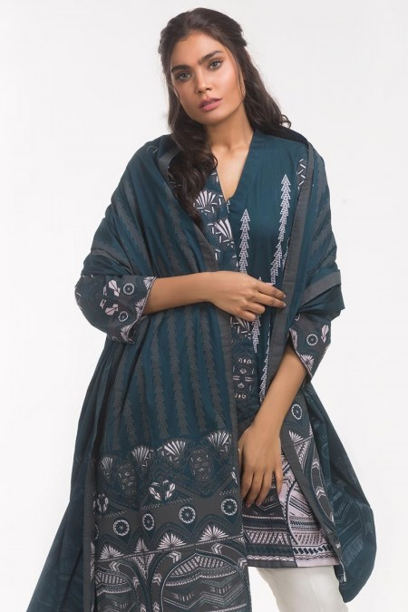 Gul Ahmed Monochrome Collection Lawn 2 PC Outfit IPS-19-124