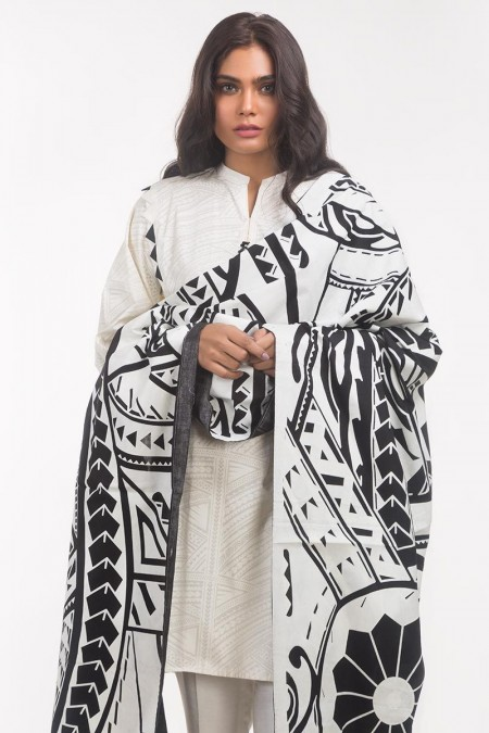 Gul Ahmed Monochrome Collection Lawn 2 PC Outfit IPS-19-125