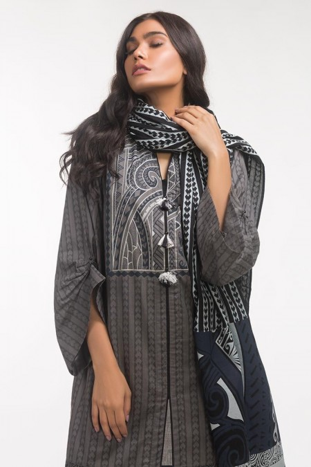 Gul Ahmed Monochrome Collection Lawn 2 PC Outfit IPS-19-127